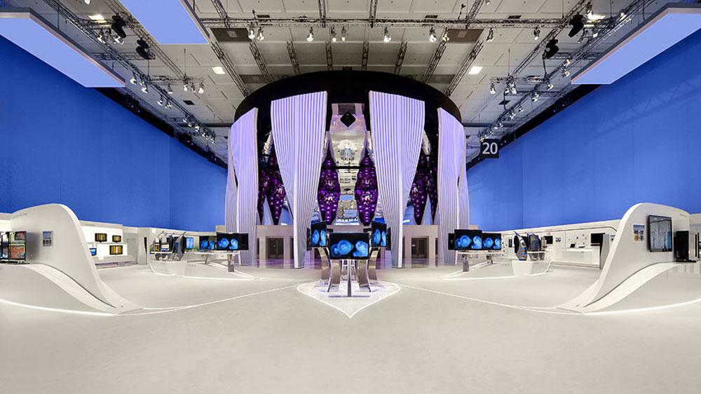 Stoisko firmy Samsung / świat elektroniki konsumenckiej 2009, Berlin/Niemcy