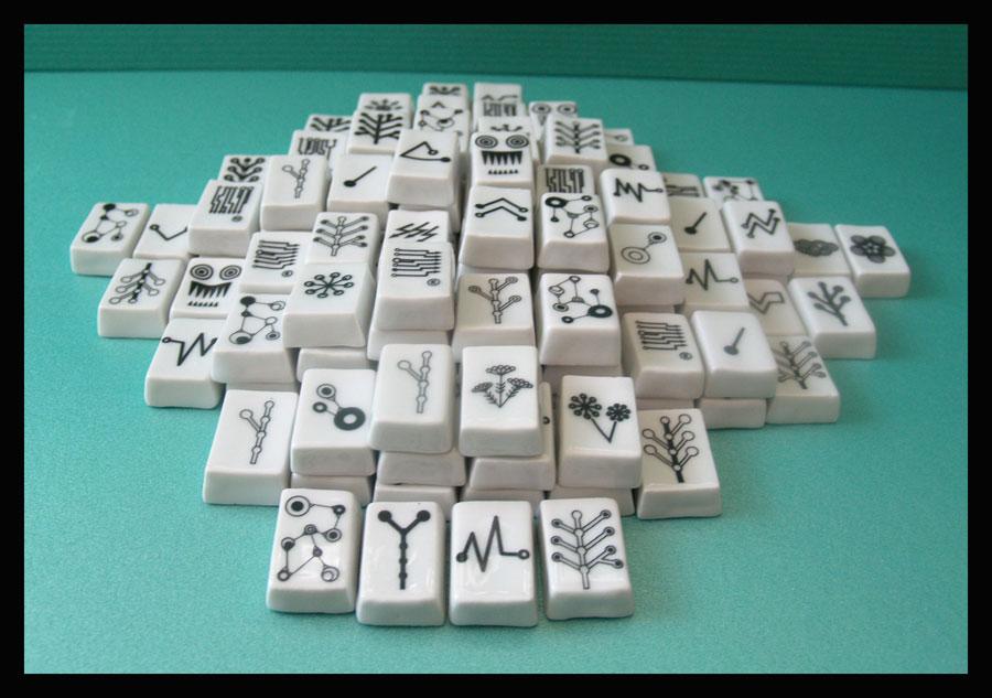 Zestaw do gry Mahjong, fragment pracy, Karolina Gorska