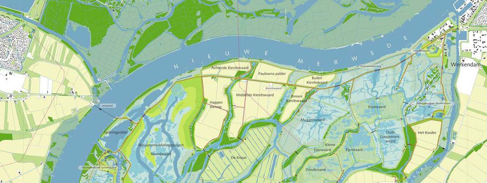 """Depoldering Noordwaard w ramach rządowego projektu """"Przestrzeń dla rzeki"""" (Holandia)"""