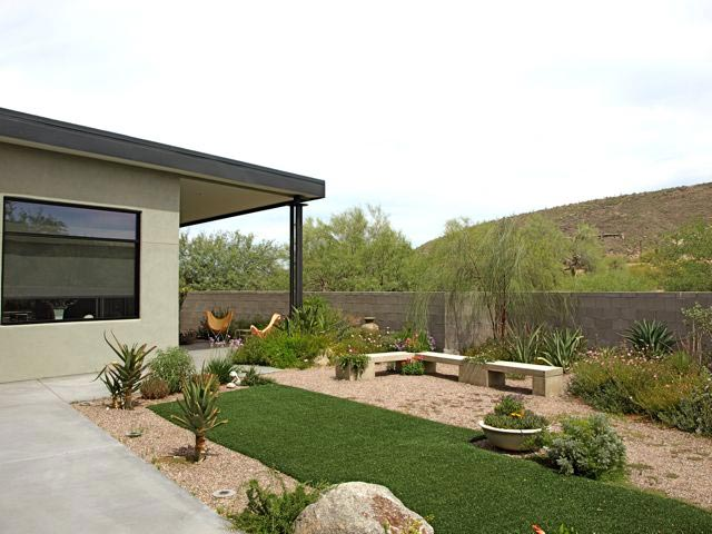 Ogród tropikalny lub pustynny