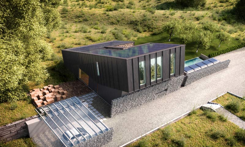 dom o dodatnim bilansie energetycznym