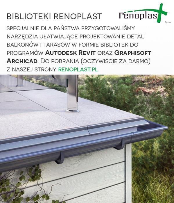 Łatwiejsze projektowanie balkonów i tarasów – biblioteki Renoplast