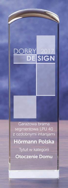 Bramy garażowe firmy Hörmann z nagrodą Dobry Design 2017