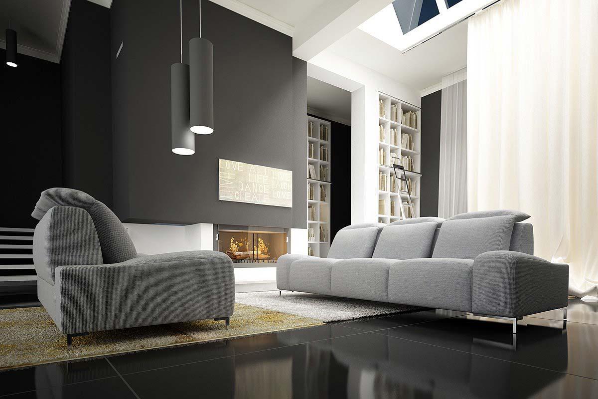 szare sofy od Adriana Furniture