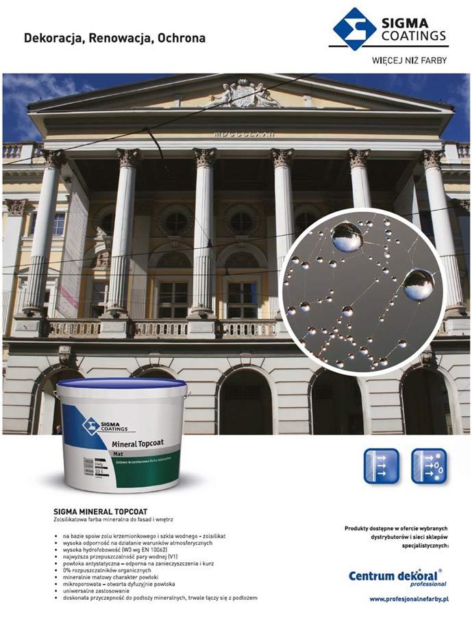 Farba do renowacji wnętrz i elewacji – Sigma Mineral Topcoat