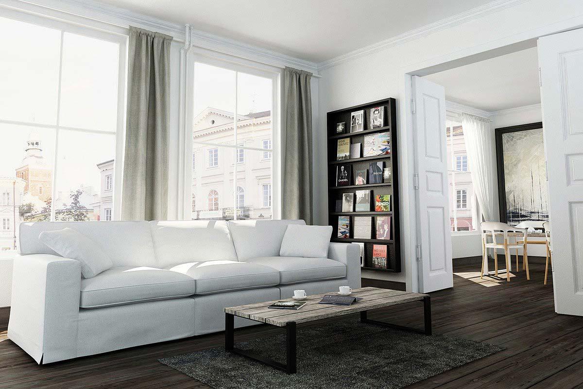 sofy w bieli