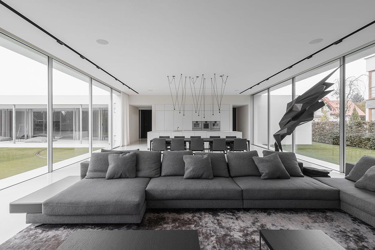 projekt wnętrza domu kwadrantowego