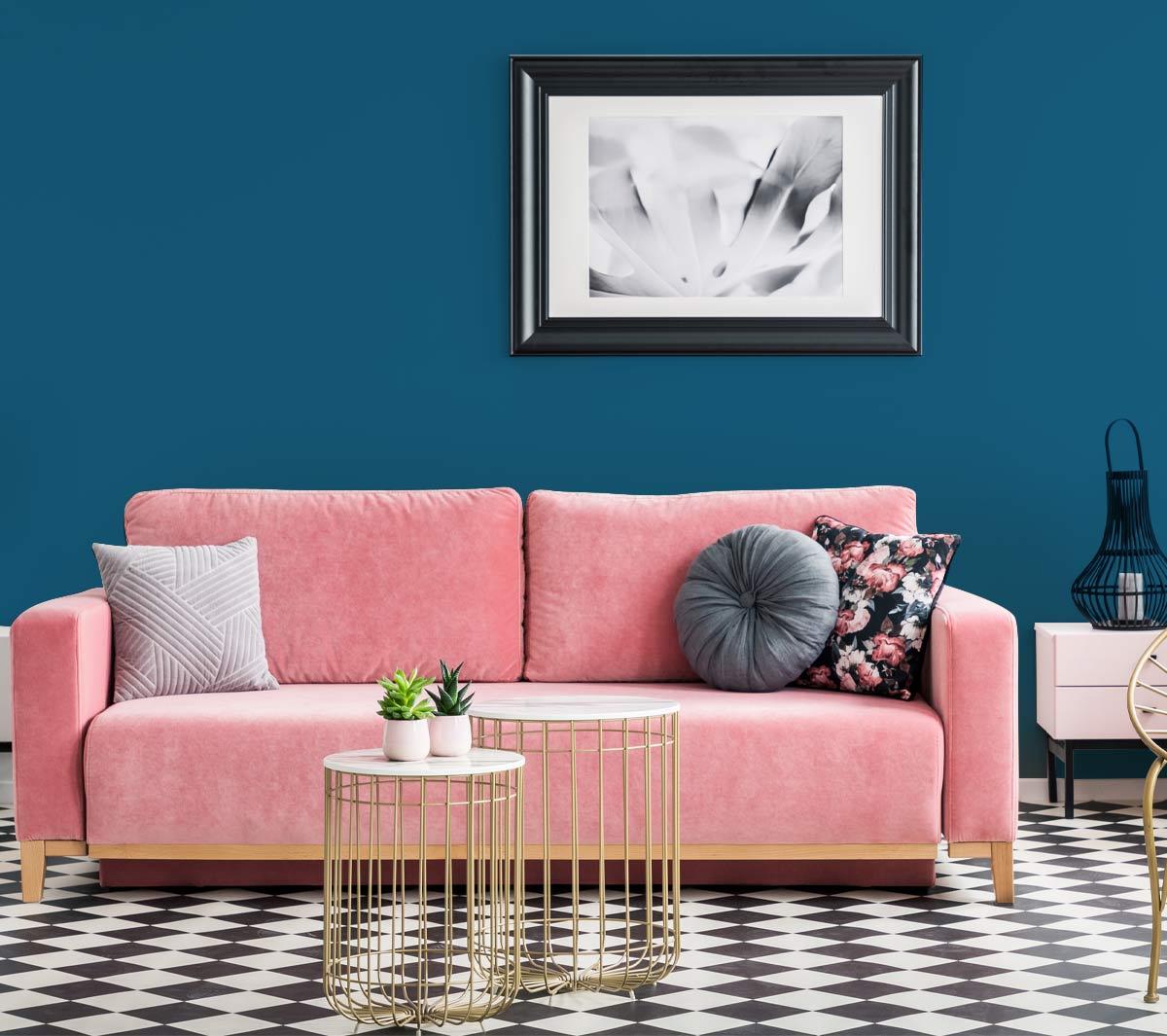 3 pomysły na aranżację salonu z wykorzystaniem Koloru Roku 2020 od PPG