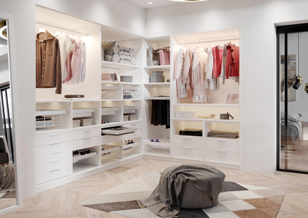 oświetlenie garderoby