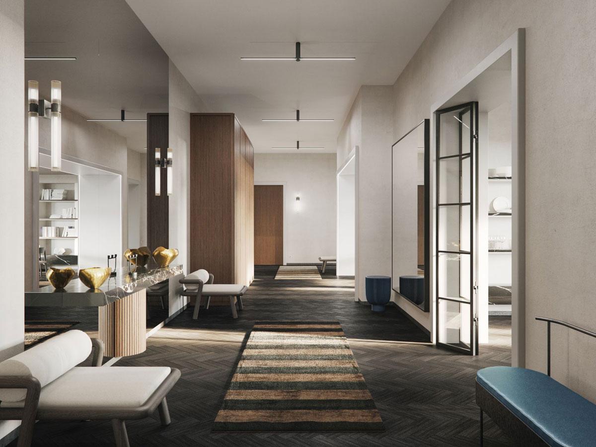 projekt wnętrza apartamentu