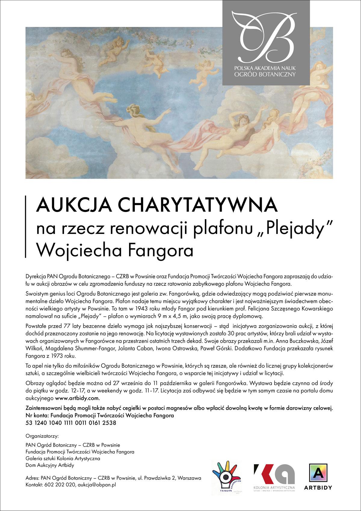 aukcja na rzecz plafonu W. Fangora