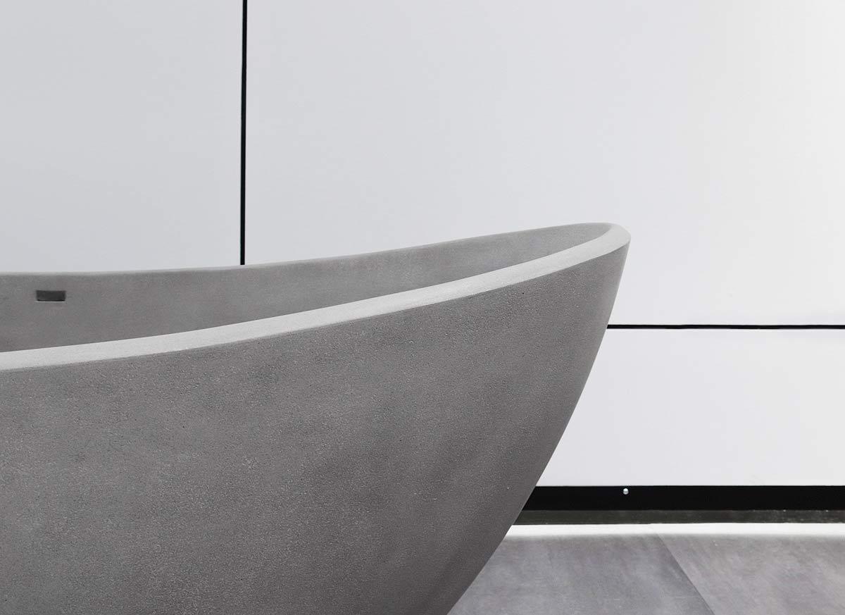 Harmonia w łazience – wanny i umywalki z betonu architektonicznego
