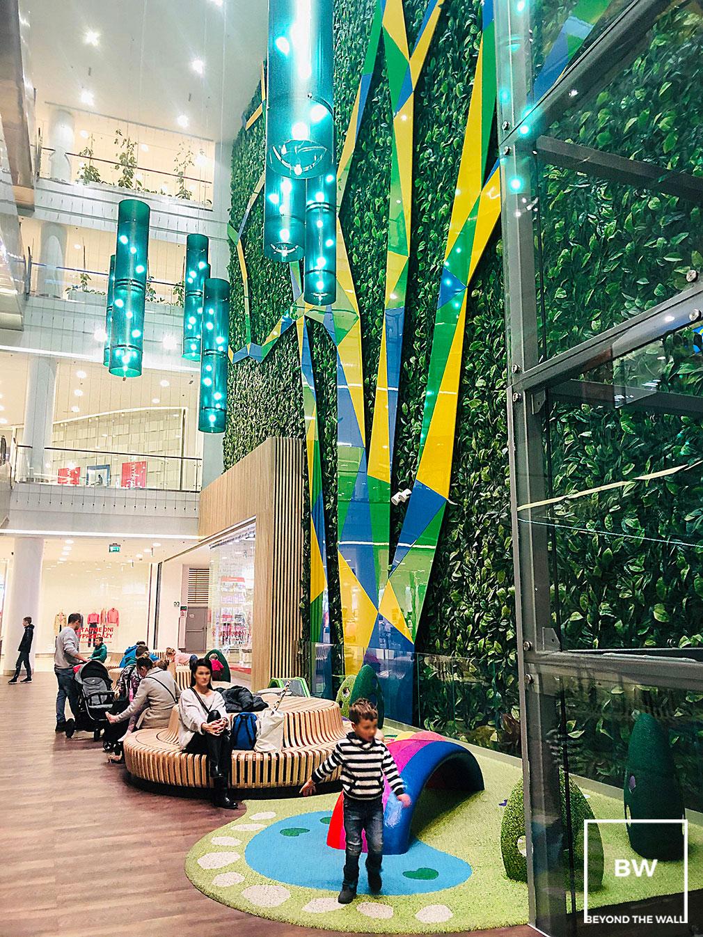 modułowe zielone ściany