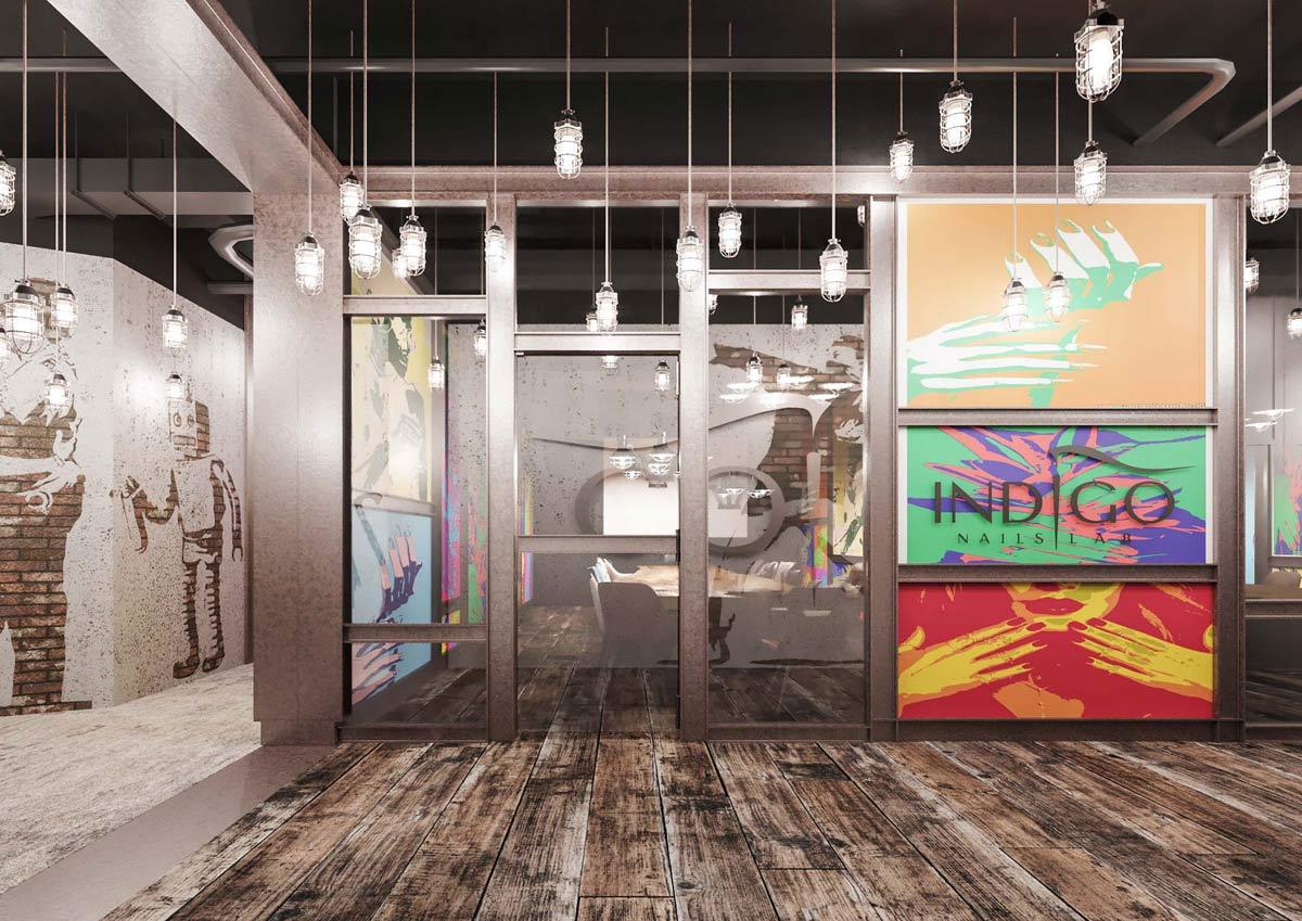 Bezkompromisowy projekt wnętrz showroomu, sal szkoleniowych i gabinetów marki INDIGO NAILS projektu REFORM Architekt