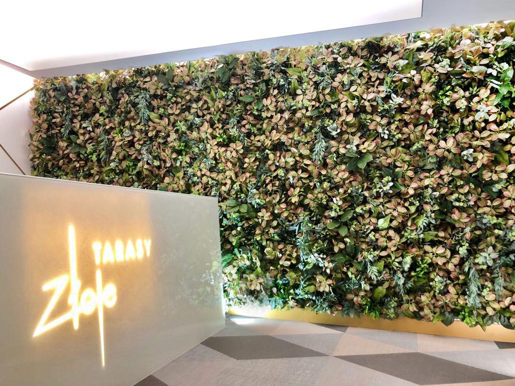zielone ściany modułowe