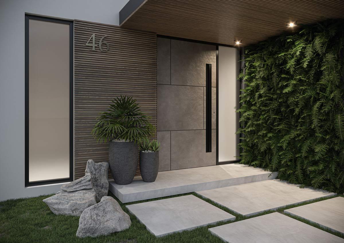 Drzwi wejściowe na miarę nowoczesnego domu - kolekcja Milan